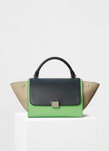 Celine Black Multicolor Smooth Calfskin Small Trapeze Bag
