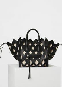Celine Black Natural Calfskin Cut Out Medium Luggage Phantom Bag