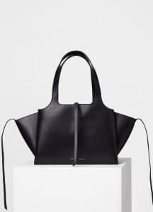 Celine Black Small Tri-Fold Shoulder Bag