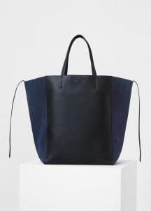 Celine Black/Navy Smooth Calfskin/Suede Large Cabas Phantom Bag