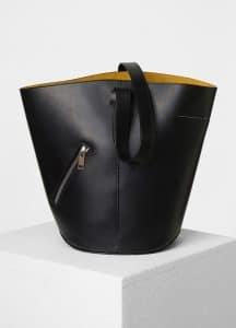 Celine Black/Sunflower Bucket Biker Shoulder Bag