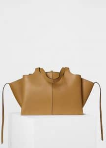 Celine Blonde Medium Tri-Fold Shoulder Bag