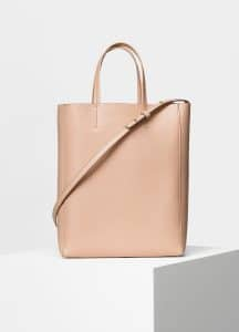 Celine Blush Calfskin Liege Small Cabas Bag