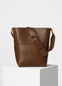 Celine Chestnut Natural Calfskin Sangle Shoulder Bag