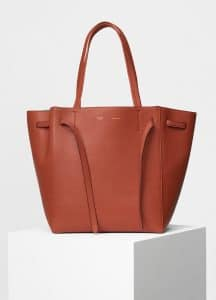Celine Cinnamon Soft Grained Small Cabas Phantom with Belt Bag