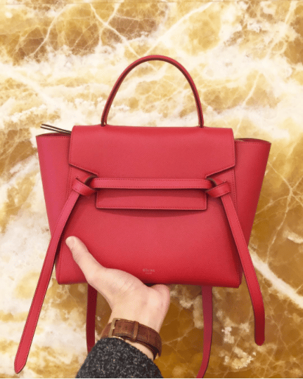 1b77ae129a Celine Coquelicot Grained Calfskin Micro Belt Bag 2. IG  bxholic
