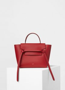 Celine Coquelicot Grained Calfskin Micro Belt Bag