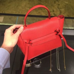 Celine Coquelicot Grained Calfskin Micro Belt Bag 3