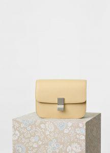 Celine Cream Calfskin Liege Medium Classic Box Bag