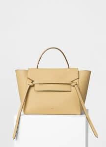 Celine Cream Grained Calfskin Mini Belt Bag