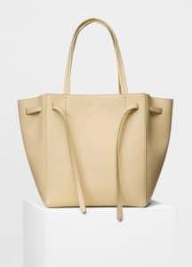 Celine Cream Soft Grained Small Cabas Phantom with Belt Bag