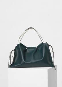 Celine Dark Green Large Sloutchy Tote Bag