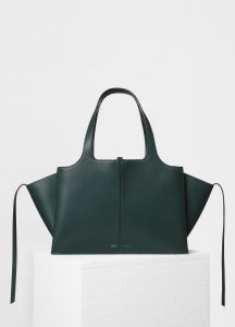 Celine Dark Green Medium Tri-Fold Shoulder Bag