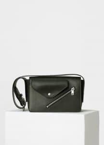 Celine Dark Green/Mineral Medium Case Biker Shoulder Bag