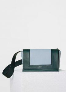 Celine Dark Green/Mineral Smooth Calfskin Medium Frame Shoulder Bag