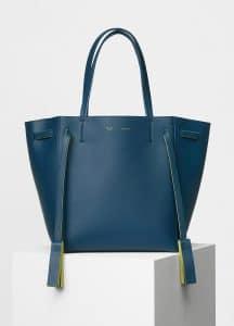 Celine Deep Blue Smooth Calfskin Small Cabas Phantom with Tassels Bag