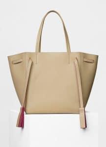 Celine Dune Smooth Calfskin Small Cabas Phantom with Tassels Bag
