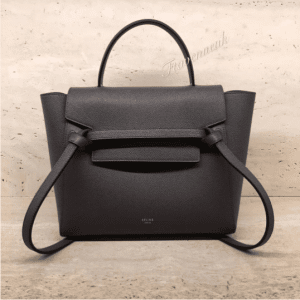 Celine Grey Grained Calfskin Micro Belt Bag 2