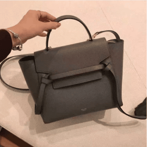 Celine Grey Grained Calfskin Micro Belt Bag 3