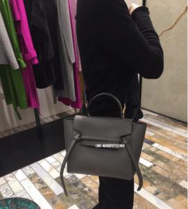 Celine Grey Grained Calfskin Micro Belt Bag 4