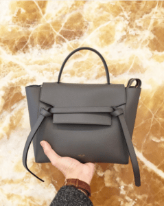 Celine Grey Grained Calfskin Micro Belt Bag 5