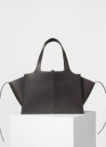 Celine Grey Medium Tri-Fold Shoulder Bag