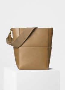Celine Light Camel Natural Calfskin Sangle Shoulder Bag