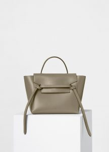 Celine Light Khaki/Cream Double Stitching Calfskin Micro Belt Bag