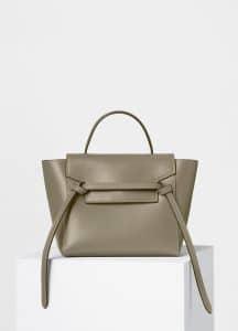 Celine Light Khaki/Cream Double Stitching Calfskin Micro Belt Bag