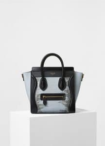 Celine Mineral Lizard Nano Luggage Bag