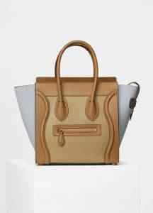 Celine Mineral Multicolor Natural Calfskin Micro Luggage Bag