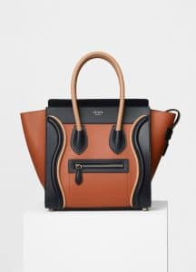 Celine Multicolor Smooth Calfskin Micro Luggage Bag