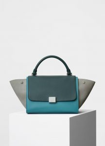Celine Multicolor Smooth Calfskin Small Trapeze Bag