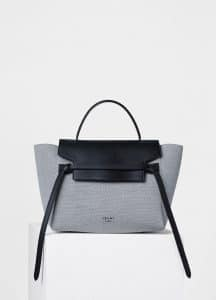 Celine Navy Blue/Black Textile/Smooth Calfskin Mini Belt Bag