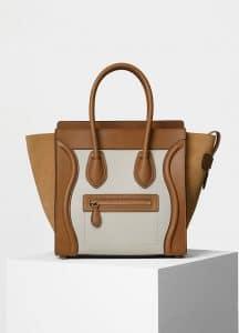 Celine Nude Multicolor Natural Calfskin Micro Luggage Bag