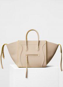 Celine Powder Baby Grained Calfskin Medium Luggage Phantom Bag