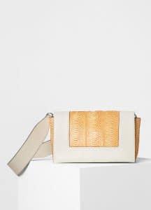 Celine Sunflower/White Watersnake/Calfskin Medium Frame Shoulder Bag
