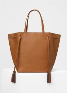 Celine Tan Natural Calfskin Medium Cabas Phantom with Tassels Bag
