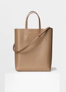 Celine Taupe Calfskin Liege Small Cabas Bag