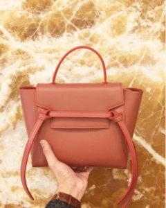 Celine Terracota/Red Double Stitching Calfskin Micro Belt Bag 2