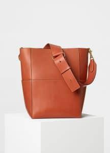 Celine Terracotta Natural Calfskin Sangle Shoulder Bag