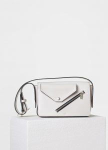 Celine White/Magenta Medium Case Biker Shoulder Bag