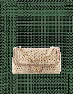 Chanel Beige Crochet Cayo Coco Flap Bag