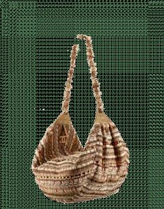 Chanel Beige/Orange/Gold Tweed Hammock Hobo Bag