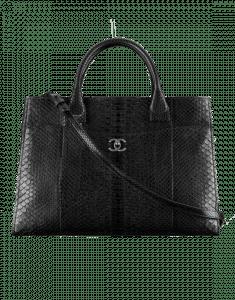 Chanel Black Python Neo Executive Medium Shopping Bag