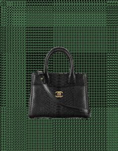 Chanel Black Python Neo Executive Mini Shopping Bag