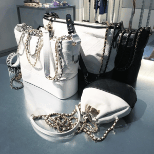Chanel Black and White Quilted Shoulder Bags