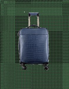Chanel Blue Alligator Coco Case Trolley Bag