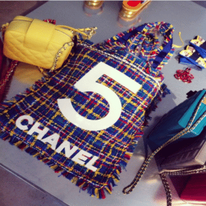 Chanel Blue Tweed Tote and Yellow Camera Bags