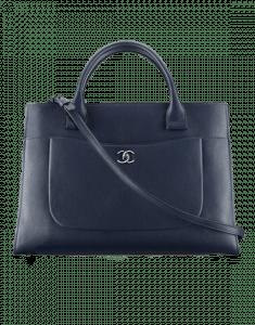 Chanel Dark Blue Neo Executive Large Shopping Bag